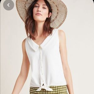 Anthropologie Biloxi Collared Button